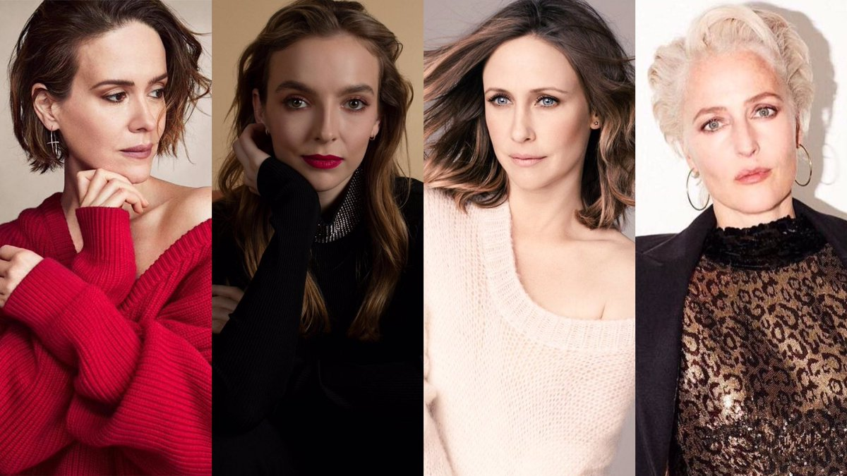 Sarah Paulson revealed that she hopes to work with Jodie Comer, Vera Farmiga, and Gillian Anderson!<br>http://pic.twitter.com/7htuJD8x9H