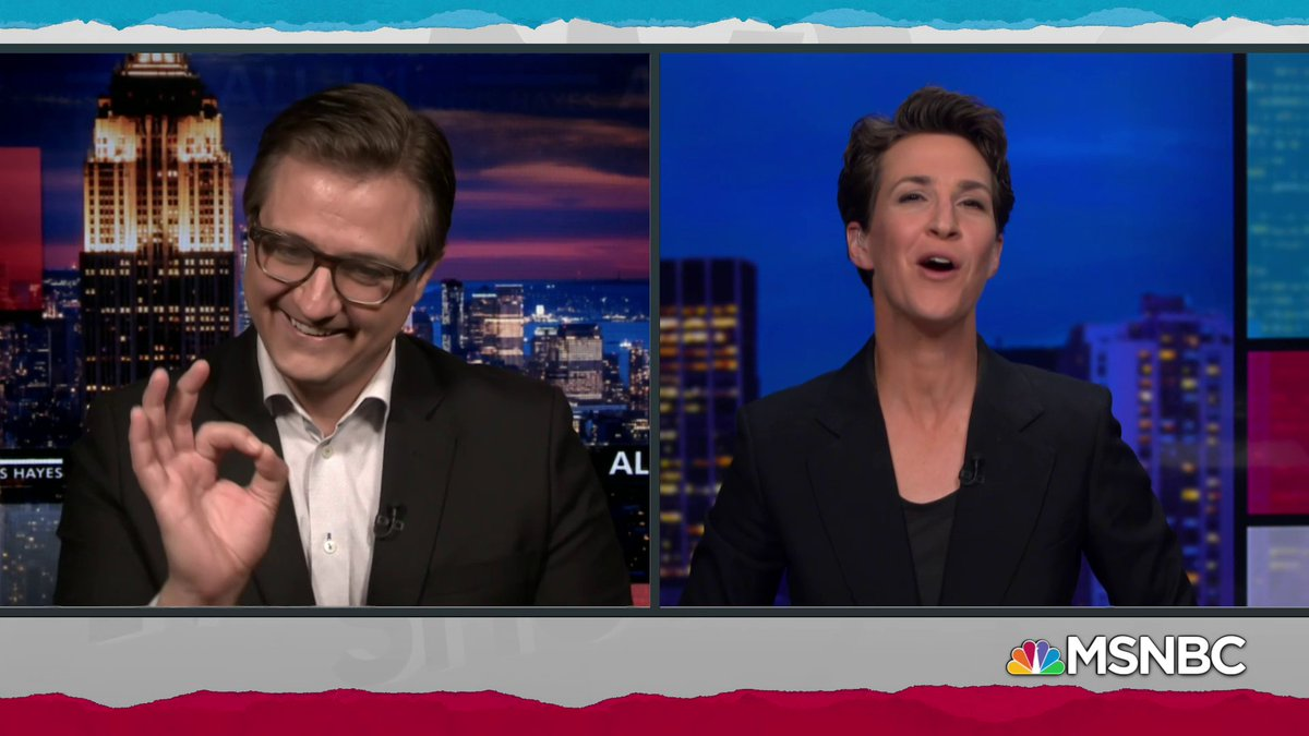 Watch @chrislhayes every weeknight at 8 p.m. ET and @maddow every weeknight at 9 p.m. ET.!