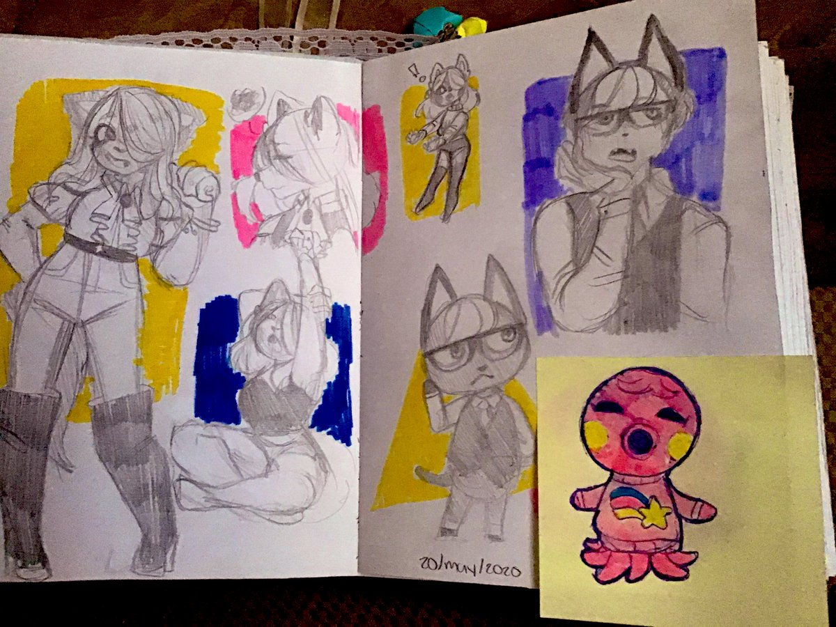 Sketchbook spread 20/05/2020, truly the most 20 day #sketch #sketchbook #animalcrossingpic.twitter.com/YdmqEy7sdm
