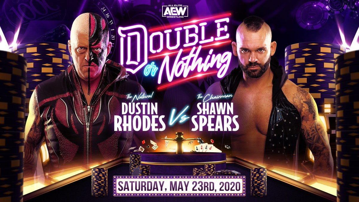 Dustin Rhodes Vs. Shawn Spears Added To AEW Double Or Nothing