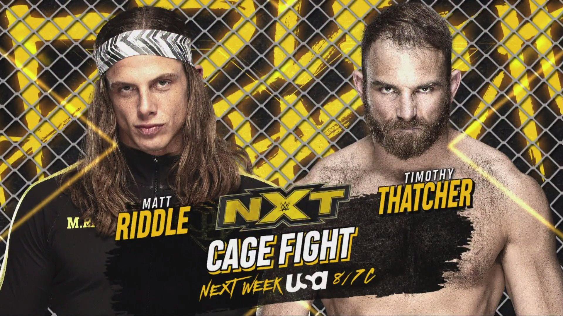 Steel Cage Match anunciada para o próximo WWE NXT