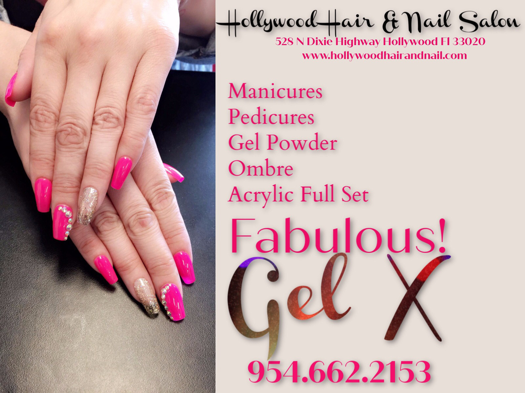 Gel X is a sophisticated gel form for nails that are durable, beautiful and create incredible shine. Our five-star service and talented artists make us South Florida's Premiere Salon Hollywood Hair & Nail Salon 528 N Dixie Highway Hollywood FL 33020 / 954.662.2153 #gelnails #napic.twitter.com/bnQaMANqdD