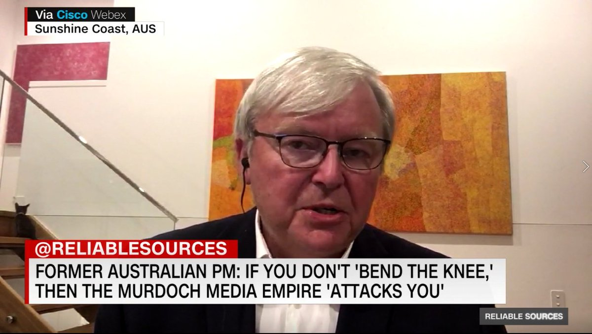 Kevin Rudd On Twitter Glad That Murdoch Thug Chris Kenny Enjoyed My Interview With Cnn On The Murdoch Mafia S Global Bullying Tactics Targeting Anyone Who Challenges Them In Fact He Liked It