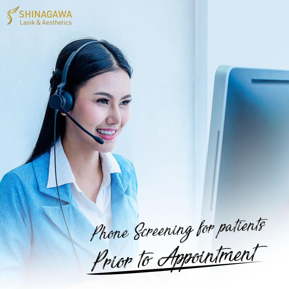 As a precautionary measure, patients who wish to have an appointment in our clinics for any treatment would first have to be screened over the phone.