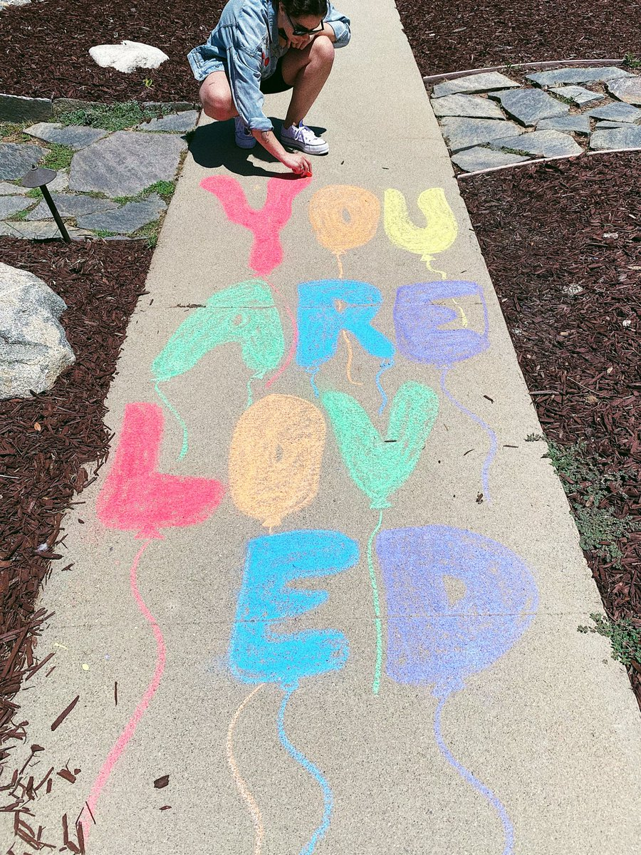 A message for those who walk my block... 🌈💕