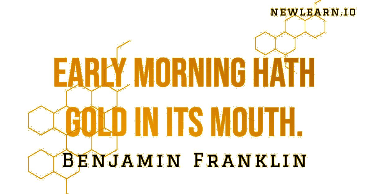 Early morning hath gold in its mouth. - Benjamin Franklin Tomorrow is coming, have a good night!  #newlearn #quote #goodnight #goodmorning #teacher #teachers #teachershelpteachers #teachingmaterials #onlineteachingmaterials #distanceeducation #remoteteaching #educationalresourcespic.twitter.com/AEm7mG1kg1