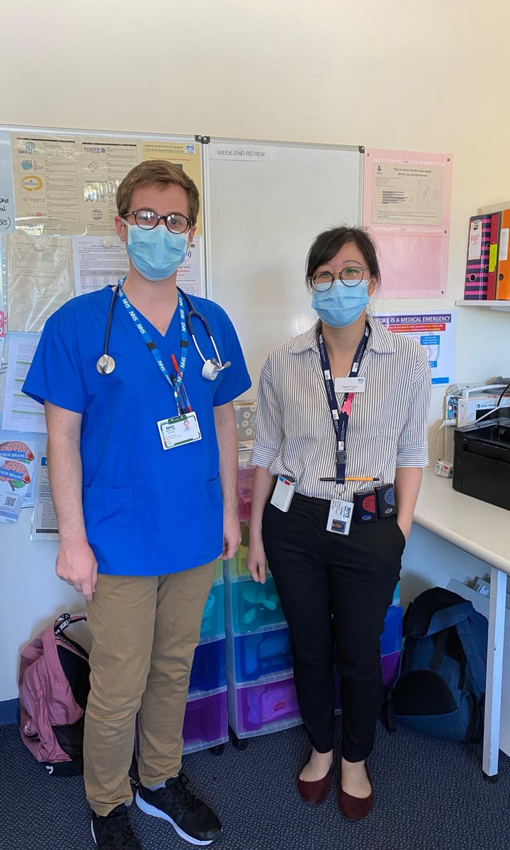 #HutchieHeroes Dr Peter Aitken C2011 and Pharmacist Emmy Tong C2007 are working together at the Royal Infirmary of Edinburgh in the Stroke Unit & Department of Medicine of the Elderly during this pandemic. #WeAreHutchie #BeOneOfUs #SchoolValues #Compassion https://t.co/MeHsFsAjP5