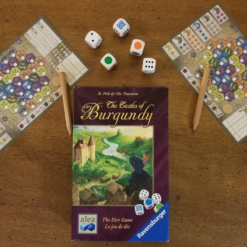 Billyindiana2020 On Twitter Enjoyed Castles Of Burgundy The Dice Game For The 1st Time Tonight Castlesofburgundydicegame Castlesofburgundy Billyindiana2020 Boardgames Tabletopgames Aleagames Stefanfeld Tabletopgaming Boardgamer