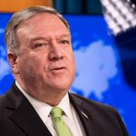 Image for the Tweet beginning: China says U.S.'s Pompeo 'blackmailing'