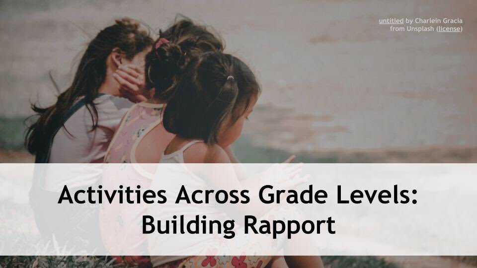 This week in our Across the Grade Levels series, @rushtonh and I will discuss building rapport with students! Now more than ever, connections matter! How might we continue building rapport with students, even from a distance? 5p EDT/2P PDT. Register at: https://t.co/Iow7P6ijV0 https://t.co/7jNQwhGy0O