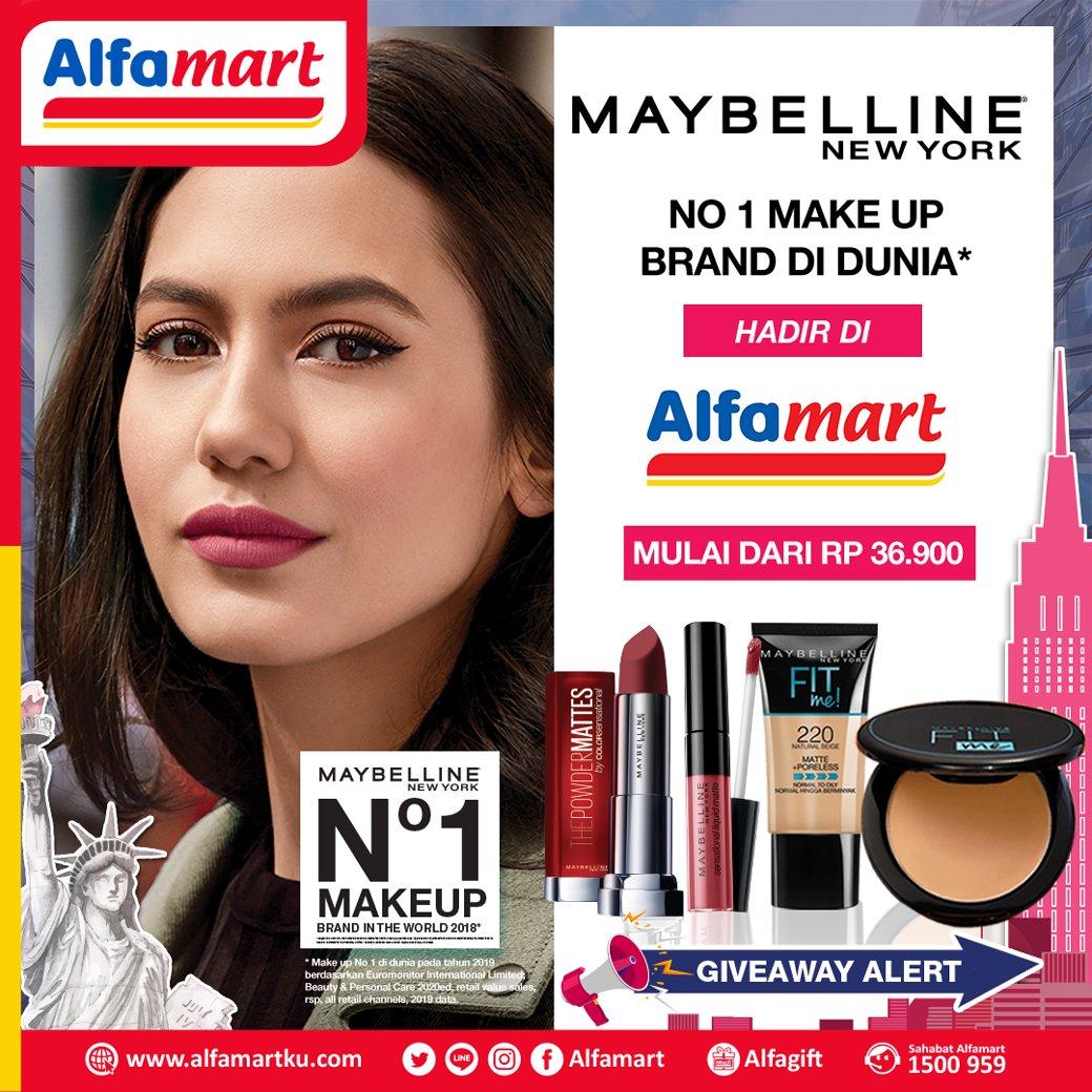 Beli produk make up Maybelline favorit mu di #Alfamart terdekat dan jangan lupa untuk ikutan Giveaway nya untuk menangkan hampers Maybelline senilai Rp 500.000 untuk 10 orang. . S&K Berlaku! #AlfamartMelayaniIndonesia #AlfamartTerdekatAja #RamadhanDirumahAja #AlfamartPenuhRahmatpic.twitter.com/6YrZbjRWny