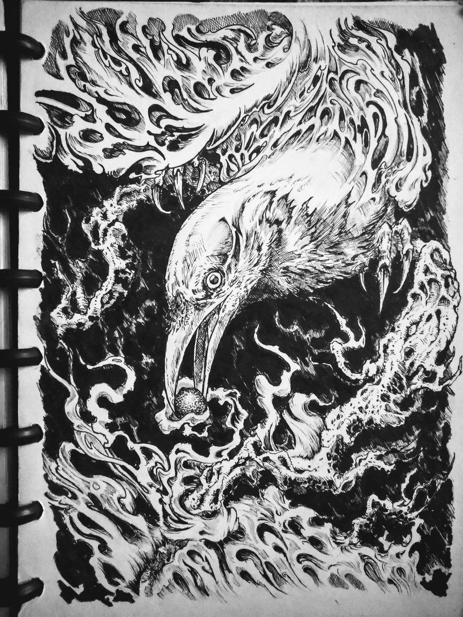"Munnin ""Raven of Odin"" • • #art #artwork #illustrator #darkart #mius_art #sketchbook #Artist #illustrationart #illustration #raven #crowpic.twitter.com/0sbLbz1fq8"