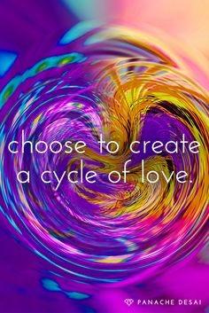 Choose To Create A Cycle Of Love. ~ Panache Desai   #LightUpTheLove #LUTL #IAMChoosingLove #ChooseLove #ThankfulThursday #StarfishClub #GoldenHearts #JoyTrain #ThinkBIGSundayWithMarsha<br>http://pic.twitter.com/1haWtGiVZC