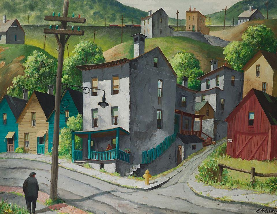 A Street Corner in Paterson, New Jersey, n.d. Henry Martin Gasser. https://t.co/mAtzPKgT8a