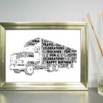 Image for the Tweet beginning: Magnificent Truck print, personalised with