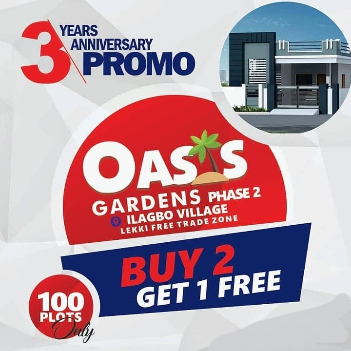 The purpose of Real Estate is to - Grow Wealth - Preserve Capital There is no other business or way to save your money than in Real Estate. Check out this offer. Oasis Gardens Estate Phase 2. Buy 2 & Get 1 Free ( Limited Offer)  DM now #investment #invest pic.twitter.com/2tlZkzBArz