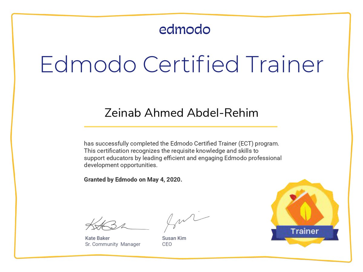 @edmodo Im so happy to get this certificate and Ill do my best to share the knowledge which Ive got with my students and workmates. Thanks, @KtBkr4 Kate Baker