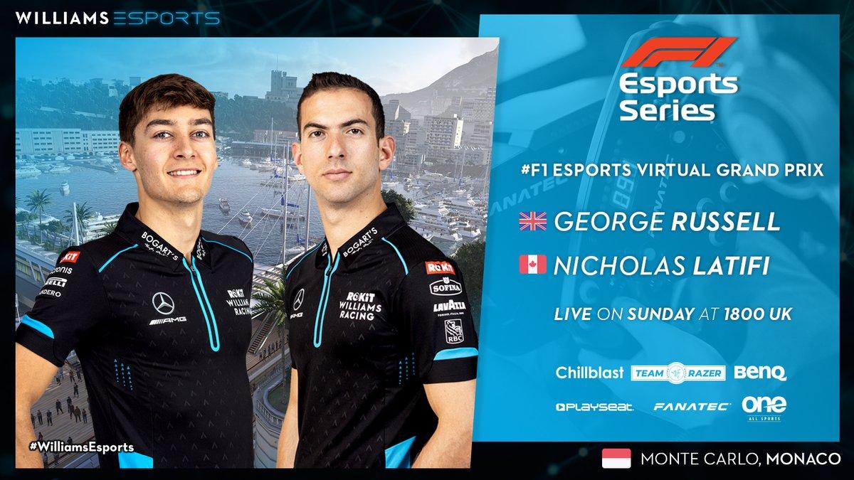 Ready to roll the dice in Monaco 🎲🇲🇨   #VirtualGP #WilliamsEsports #WeAreWilliams 💙 https://t.co/KsIZyz2RkV