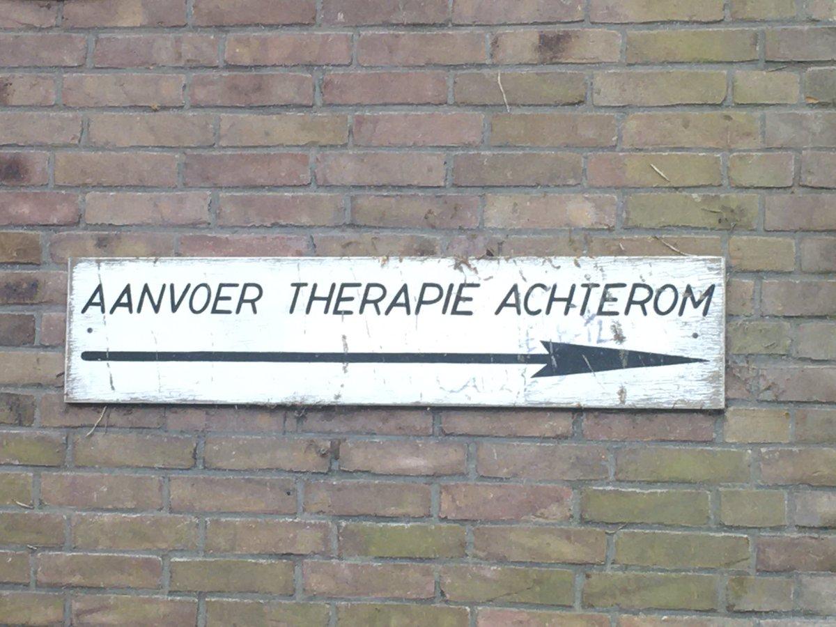 'Aanvoer therapie achterom'.