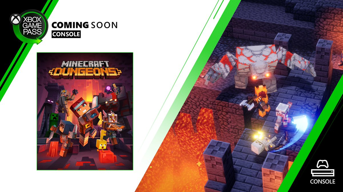 """Xbox Game Pass on Twitter: """"ICYMI: Minecraft Dungeons is coming"""