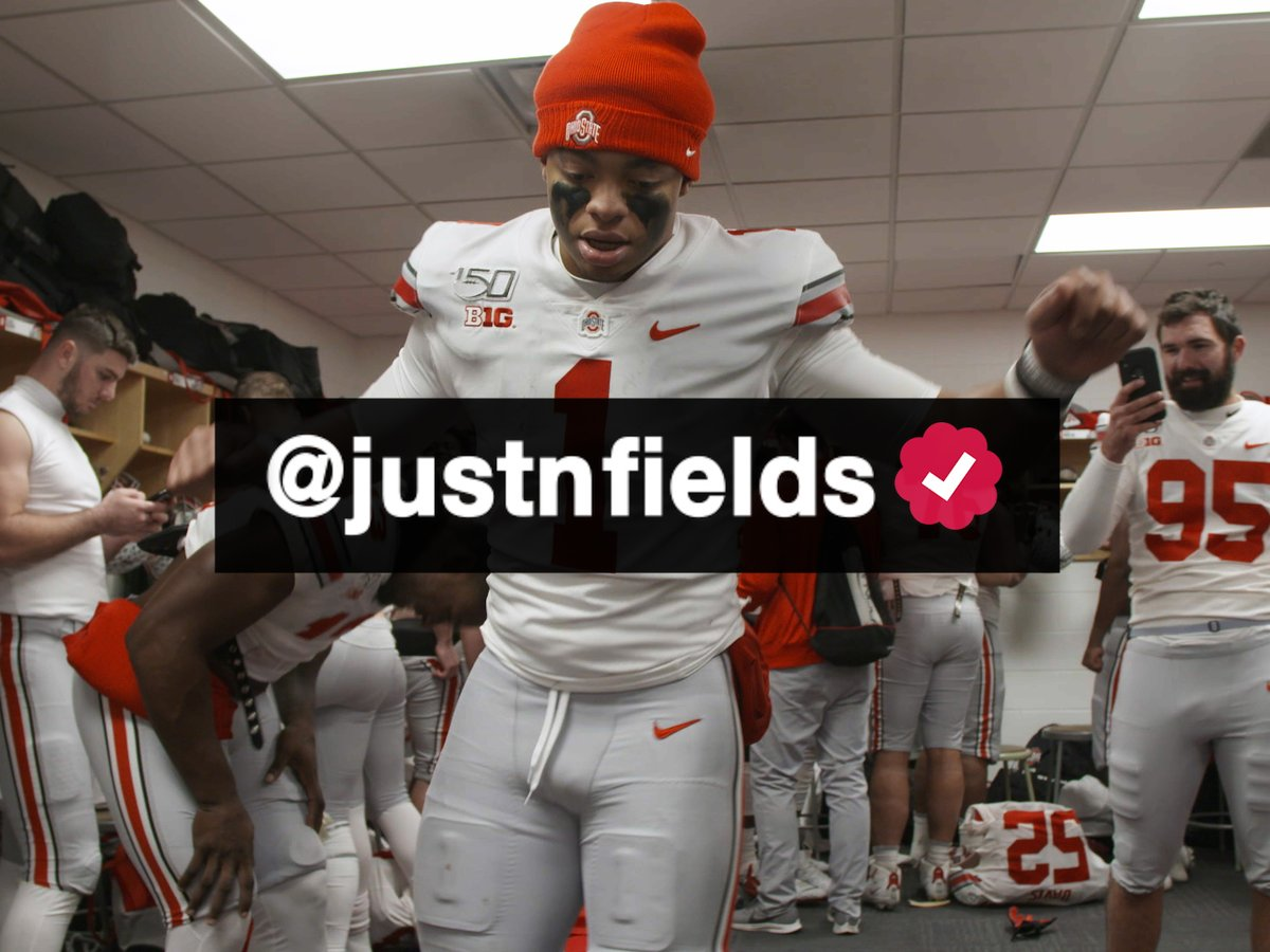 Go ahead and click that follow button for QB1 ☑️: @justnfields #GoBucks
