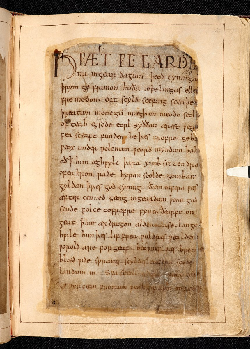 Remembering the time when two of the most famous Old English manuscripts came together, in our Anglo-Saxon Kingdoms exhibition.  One is Beowulf (@britishlibrary), the other the Vercelli Book (@mtdvercelli), containing the Dream of the Rood and Andreas.