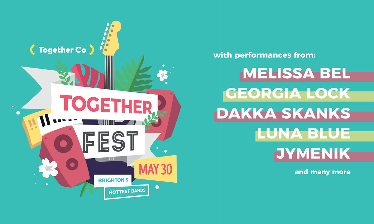 Gutted about Glasto? Weve good news. On Sat 30th May, #TogetherFest is coming to a screen near you, with more than 20 local upcoming acts performing virtually to raise money for our services. See you there! @melissabelmusic @GeorgiaUnlocked @DakkaSkanks togetherco.org.uk/togetherfest-v…