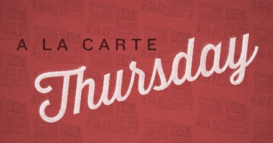 A La Carte: Kevin DeYoung on the ascension / social media worsens the theological divide / antidepressants or Tolkien? / does God miss our worship? / the coronavirus data debate / why I stopped playing video games. challies.com/a-la-carte/a-l…