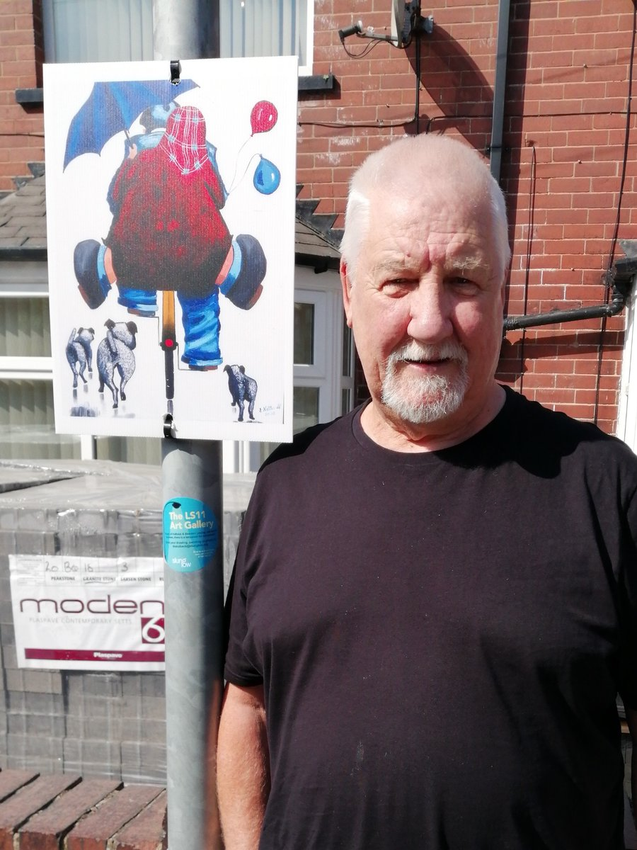 Im really enjoying seeing everyones art work on the lampposts around Beeston when Im out walking. They brighten my day! Philippa🖼️ Email your pic: theholbeck@slunglow.org See it in the #LS11ArtGallery 👇or take a tour of our virtual gallery slunglow.org/ls11-gallery/💻