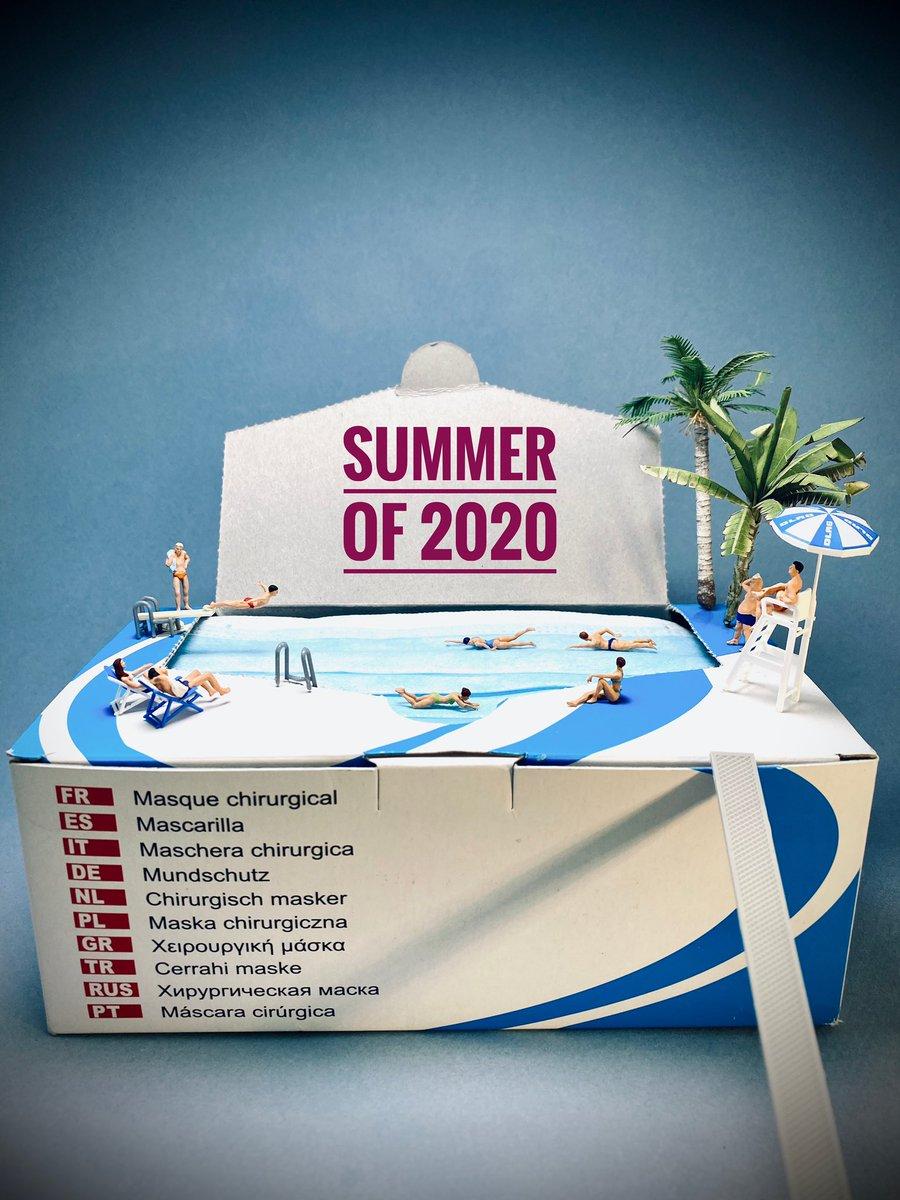 #coronavirus #GestesBarrières #VacancesenFrance #Summer2020 Pour éviter la deuxième vague, nageons masqués !pic.twitter.com/yBZStYSM4B