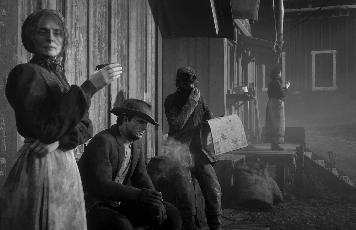 Day 4 Annesburg miners and their families for #docuVP  #RDR2Photomode #RDR2  #VirtualPhotography #VGPUnite #DocumentaryPhotography pic.twitter.com/kIq6o8cwHZ