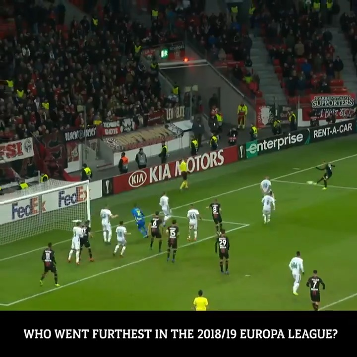 TRIVIA: Who went furthest in 2018/19?   🇪🇸 Sevilla 🇨🇿 Slavia Praha 🇮🇹 Inter 🇩🇪 Leverkusen  #UELrecall | @AmstelBier_NL https://t.co/8zrdfz2EZc