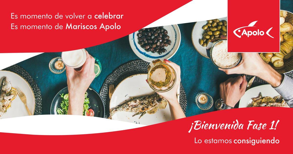 Es momento de celebrar, Es momento de Mariscos Apolo  #MariscosApolo #Mariscos #Congelados #Fase1pic.twitter.com/Xrym47ECEV