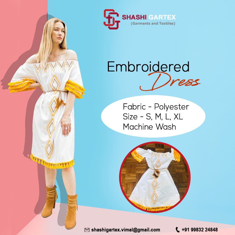 Dresses are an integral part of every woman's wardrobe. This Classy Embroidered Dress is a great sample to Show the beauty of simplicity.  Fabric – Polyester Size – S, M, L, XL Machine Wash #westernwear #fashion #westernfashion #western #westernstyle  #style #partywearpic.twitter.com/K29Li3LGMo