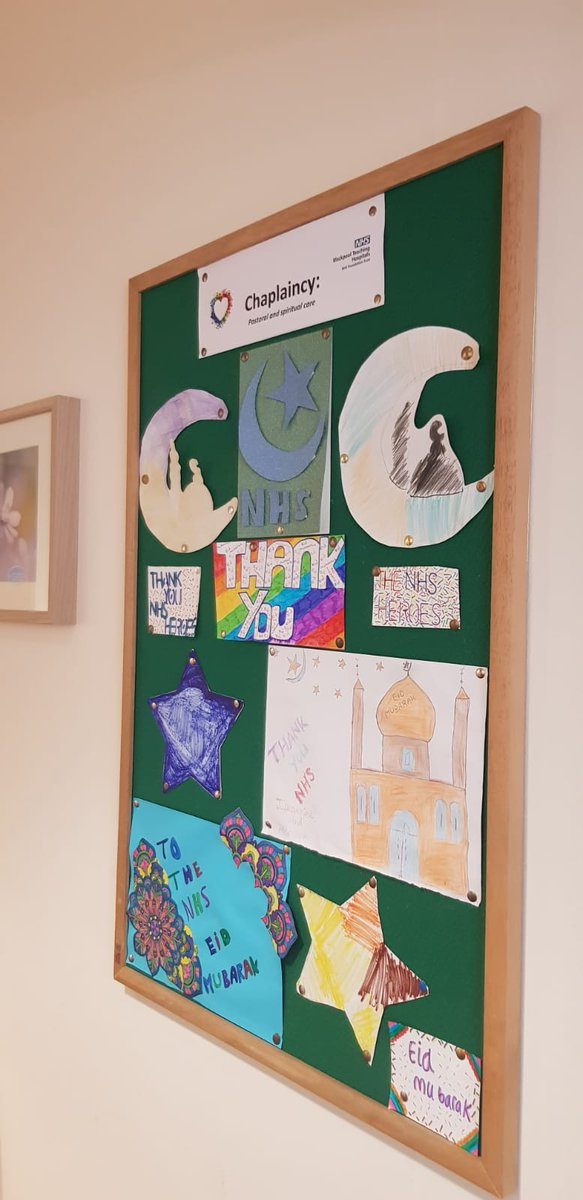 With Eid this weekend we are delighted to have recieved these lovely messages of thanks and support for @BlackpoolHosp from the children of @mosque_central thank you! #TogetherWeCare #EidMubarak