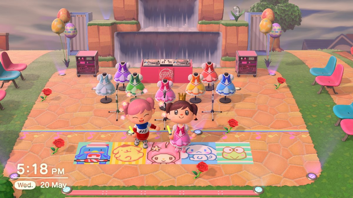 visited this beautiful masterpiece in last night's stream <3 #sanrio #puroland #kawaii #littletwinstars #AnimalCrossing #ACNHpic.twitter.com/fxLgGL86nf