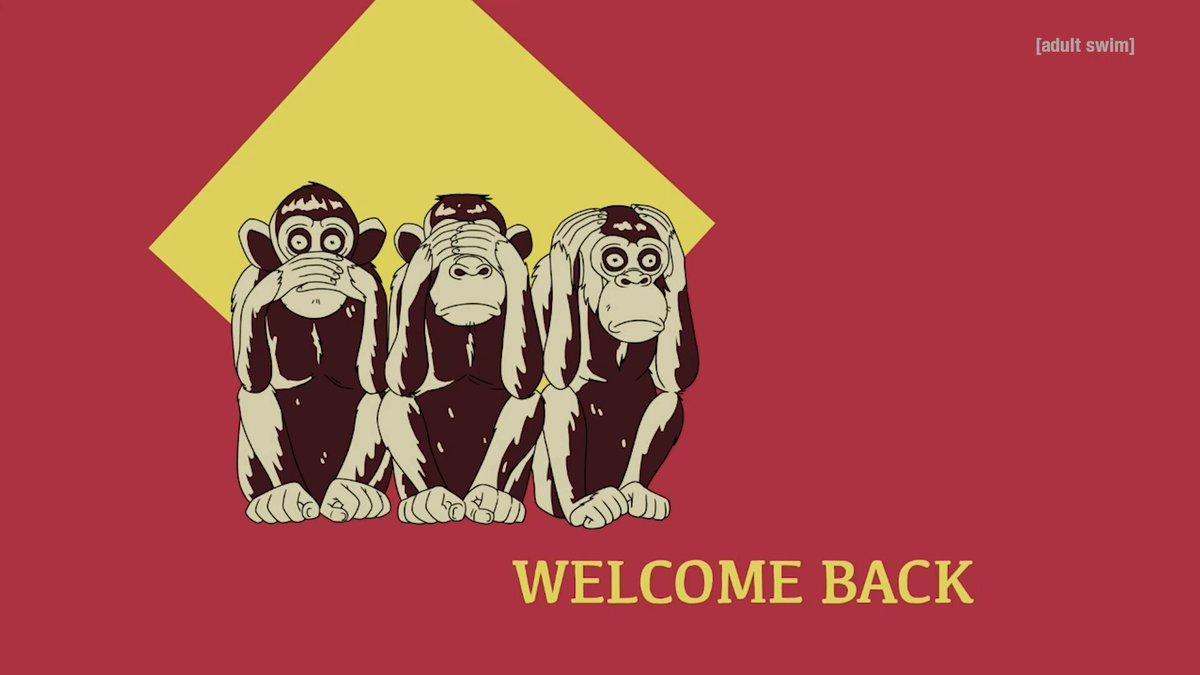 Welcome back. #aftercredits @adultswim
