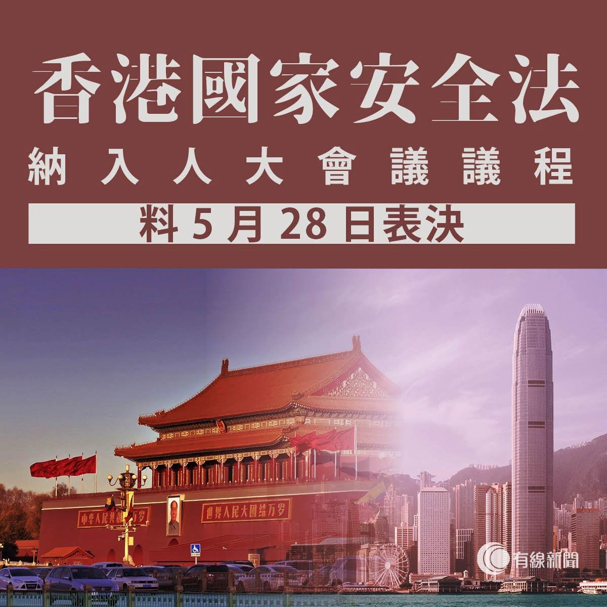 #China's National People's Congress #NPC has just included #HK's new #nationalsecuritylaw as the 5th agenda item. Source told that the law will be immediately passed on May 28, with any HK's legislative scrutiny. https://twitter.com/joshuawongcf/status/1263392830560653316…pic.twitter.com/nDivzeQZvg