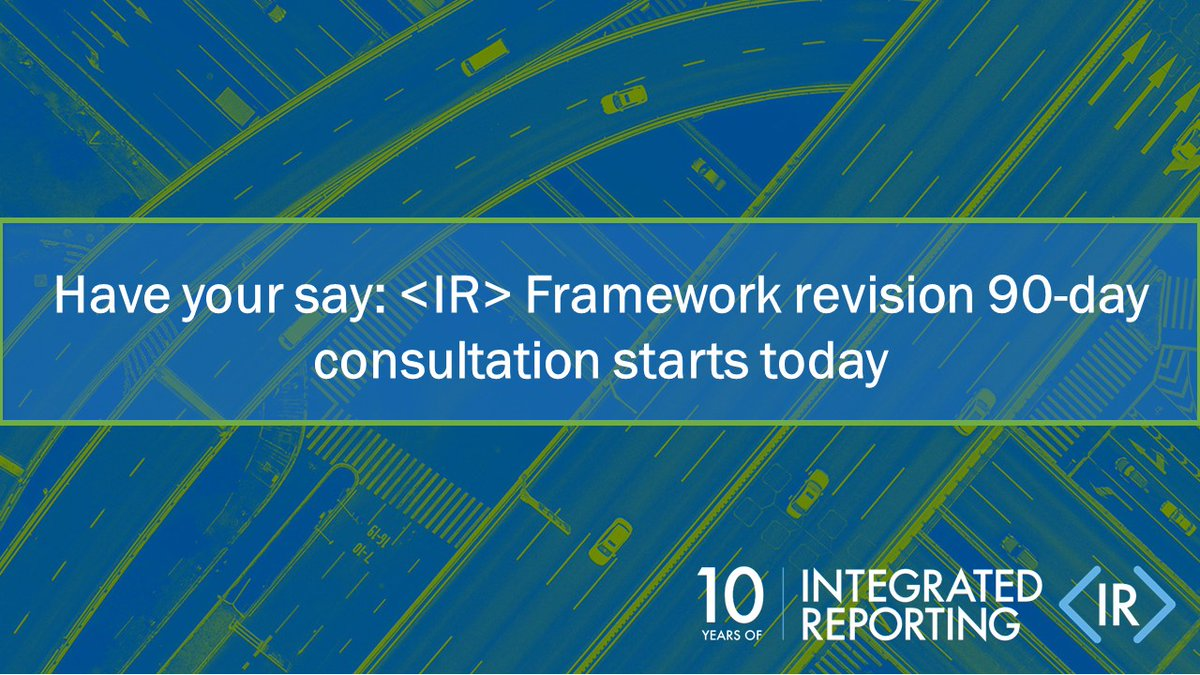 Today, the IIRC calls for your feedback, as we open a 90-day consultation on revisions to the International <IR> Framework. To find out more: bit.ly/36qip0U