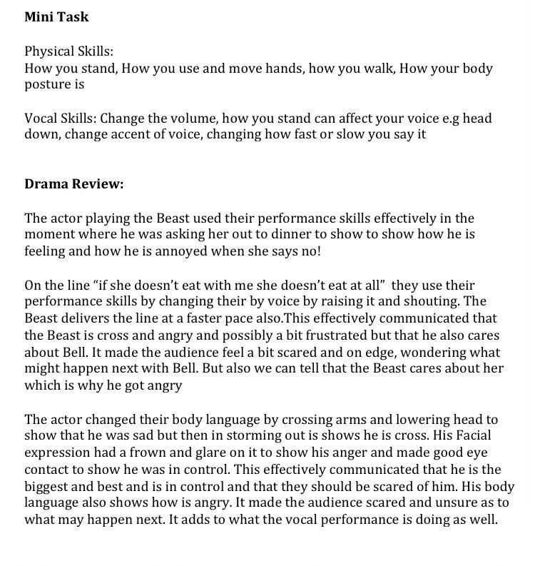 Fabulous analysis and evaluation of a live performance from Ben in year 8. Mrs Donovan was very impressed. #drama #succeedingtogetherpic.twitter.com/jhaCpp2OmE
