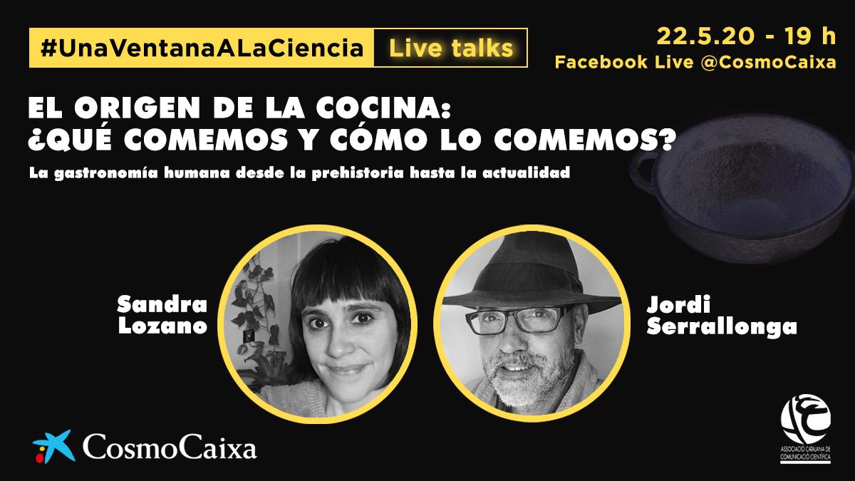 El origen de la cocina: ¿qué comemos y cómo lo comemos? No os perdáis la entrevista de @SerrallongaJ a nuestra colaboradora, experta en historia, @Sandroula_. Será mañana viernes a las 19h en #UnaVentanaALaCiencia en el Facebook Live de @CosmoCaixa https://t.co/korZy6fwVM