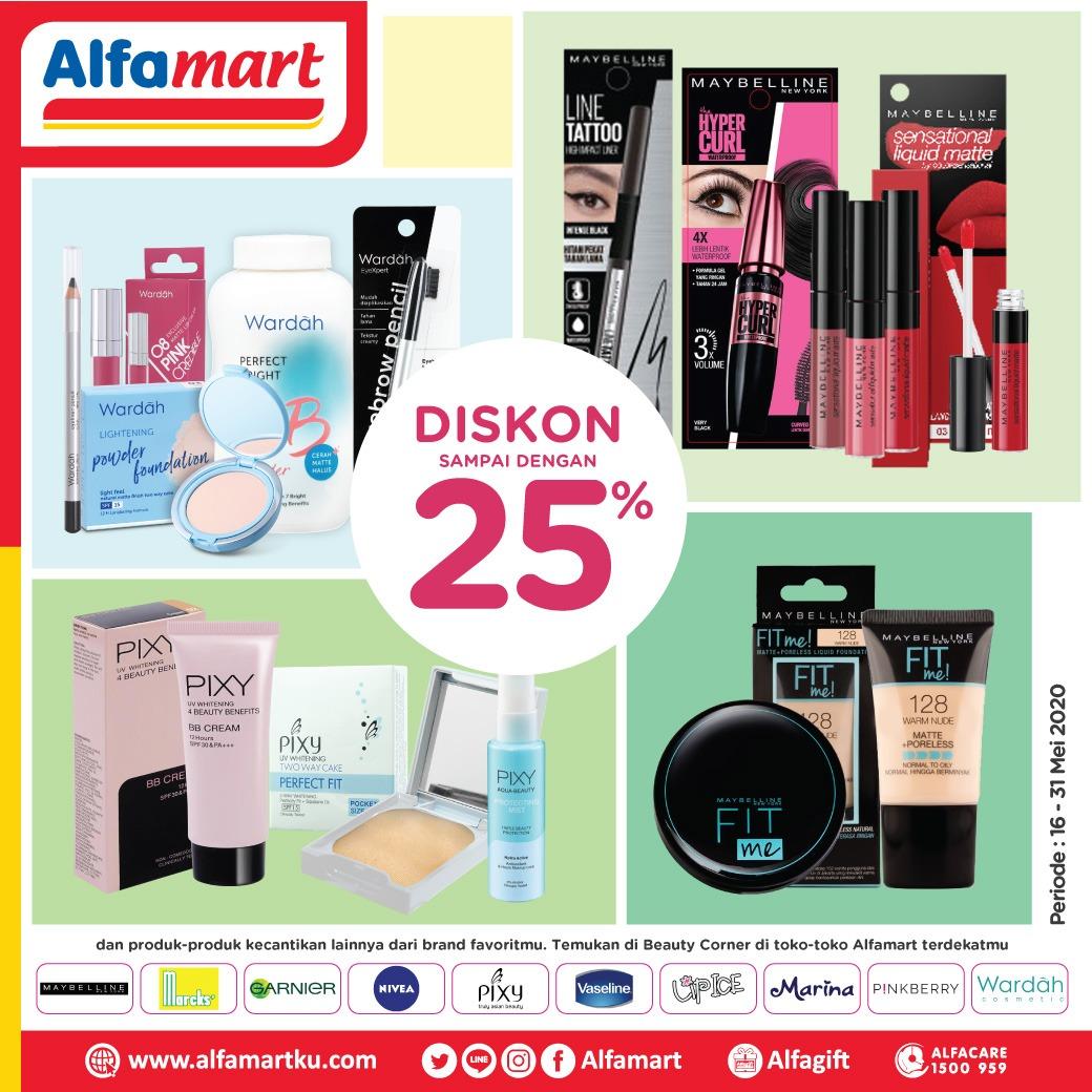 Di #Alfamart lagi ada DISKON s.d 25% untuk produk Make Up favorit mu berikut ini spesial untuk Sambut Moment Idul Fitri nanti . Segera temukan produknya di Beauty Corner di #Alfamart dekat rumah mu ya . . #AlfamartMelayaniIndonesia #AlfamartTerdekatAja #RamadhanDirumahAjapic.twitter.com/vBwKDxtB2I