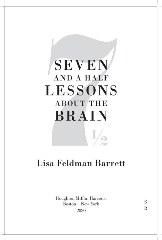 """Just received the official page proofs from my publisher for my upcoming book of short essays, """"Seven and a Half Lessons about the Brain."""" Very exciting to see the book in close-to-final form! Due on November 17."""