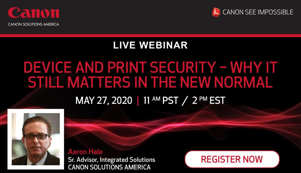 🚨REMINDER🚨: If you can't make it tomorrow afternoon, when you register you'll be able to access the webinar both LIVE and on-demand! #CanonSolutionsAmerica