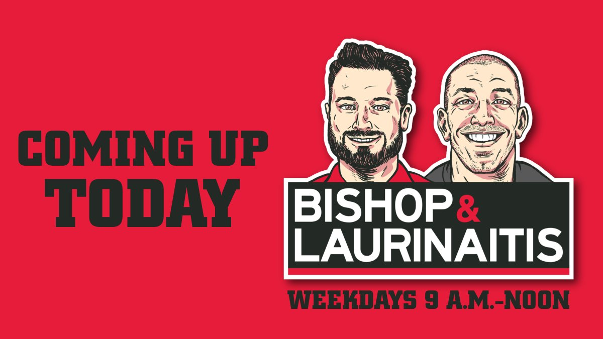 Coming up on Bishop and Laurinaitis (@971BLS) from 9-noon: Gene Smith says there could be fans in the Horseshoe, Breaking down the Vikings, @CourtneyRCronin at 10:33, Most dominant CFB teams, @TIM_MAYsports at 11:33.