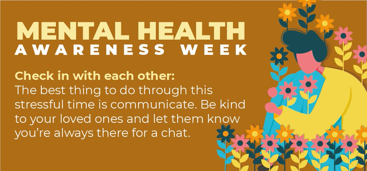 Kooth's 4th #kindness tip for #MentalHealthAwarenessWeek is is to check in with each other 💬 Communicating and talking about our feelings with someone we trust can seem really daunting, but more often than not will have a positive outcome. https://t.co/g2pyRZWHnK