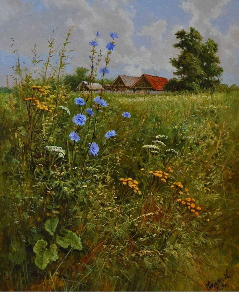 Very pretty painting by Alexey Anikin . Contemporary Russian artist  from Penza.   @blackjackandh00 parents live there....yeah. https://t.co/oLD6szU45J
