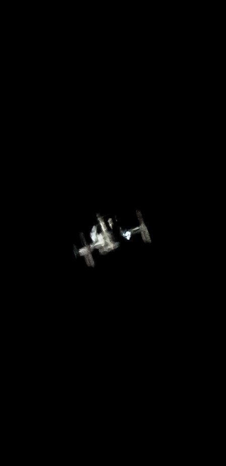 """Couple pics of the #ISS as it passed over #Johannesburg this morning. Single frames from a video with a #GalaxyS8 7mm eyepiece, 2 x barlow and 8"""" Sky-watcher dobsonian #Smartphone #Astrophotographypic.twitter.com/3tLcniQ6id"""
