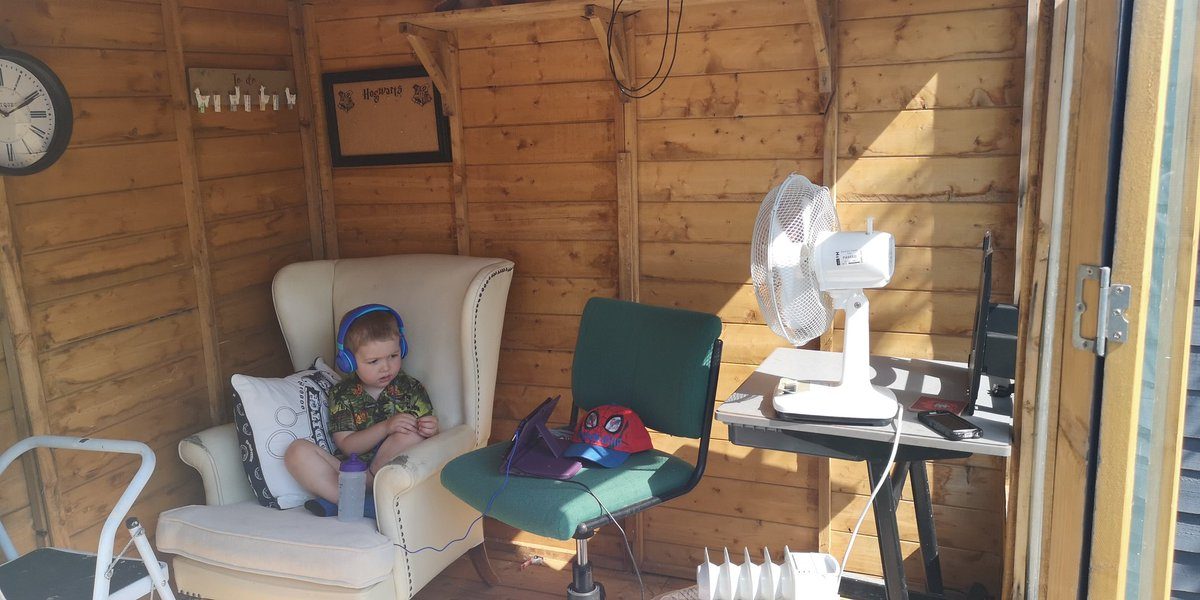 Warm weather is playing havoc with blood glucose for the Ketone Kid™. He's ended up retreating to the summerhouse to watch Chip & Dale <br>http://pic.twitter.com/AnfVdJjKuY
