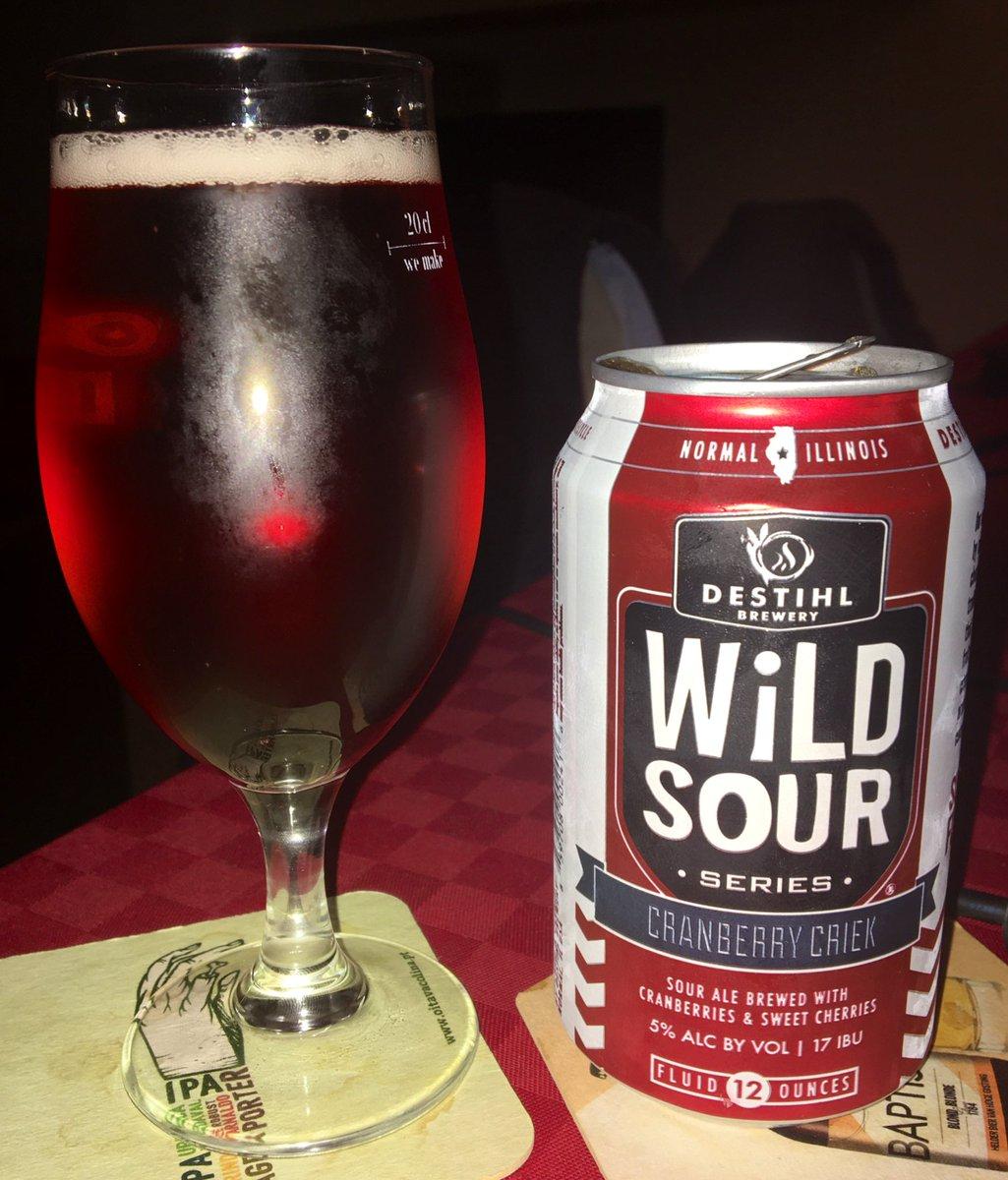 Wild Sour Series: Cranberry Criek DESTIHL Brewery (Estados Unidos ) @DESTIHLbrewery  Sour Fruited; 5% ABV; 17 IBU #CraftBeer #cervejaartesanal pic.twitter.com/qm1OPYo4NS